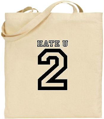 Hass U 2 Große Baumwolltasche Einkaufstasche Weihnachten Lustiger Witz