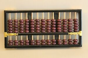 Boulier Chinois 13 tiges-Suanpan-Chinese Abacus-Abakus-Abaco-rouge