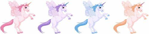 Pack Unicorns pony horse Cartoon Nursery Childs Bedroom  Wall Art Sticker medium