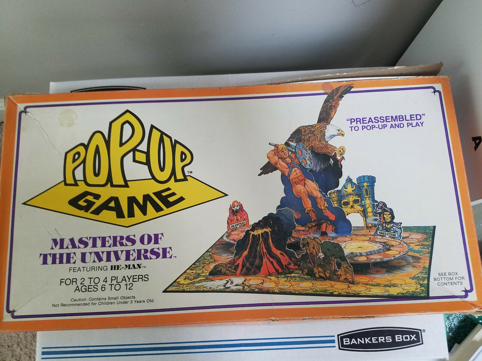 Vintage Pop-Up Masters of the Universe Board Game