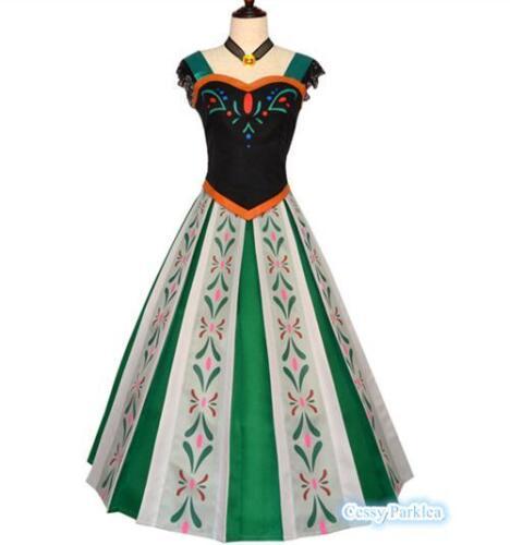 Deluxe Teenage /& Adult Princess Anna Coronation Dress Costume Disney Frozen