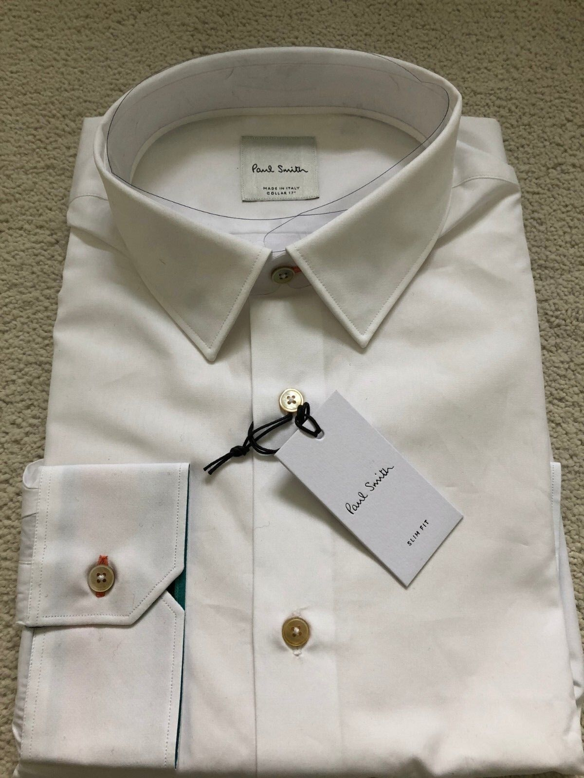 Paul Smith  Long Sleeve Formal TAILORED fit Shirt in White - RRP