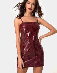 MOTEL-ROCKS-Burmay-Dress-in-PU-Croco-Wine-Small-S-mr101