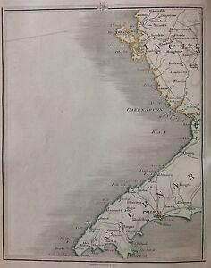 Mexico Map 1794.Caernarvonshire 1794 Cary S Antique Map Pwllheli Holyhead Anglesea