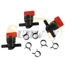 Universal Plastic 6mm Fuel Tap Inline On//Off Fuel Tap Fit for 1//4 Pipe Hose,Black Fuel Tap Red