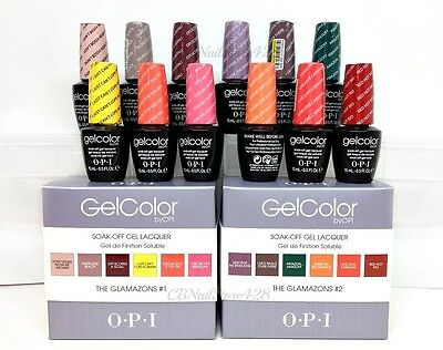 OPI Gelcolor - GLAMAZON BRAZIL Spring/Summer 2014 - Pick Any Color/Top/Base .5oz