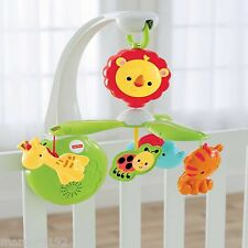 Fisher-Price Grow with me Mobile Musical Lullabies Rainforest 4 - in-1 New
