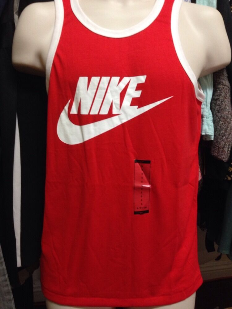 60caf1b1fde35 New🔥 Nike Ace Logo Red Tank Top Unwashed The Rock Pain   Gain Movie ...