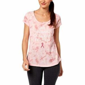 Ideology Women's Fitness Running T-Shirt Breast Cancer Research Pink Medium M