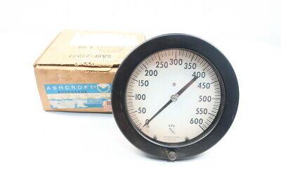 Ashcroft 60-1377a-4b-600kp Pressure Gauge 6in 1/2in Npt 0-600kpa Comfortabel Gevoel