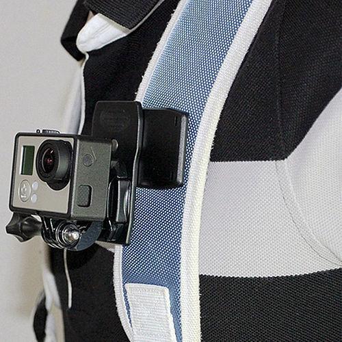 Mochila De Liberación Rápida Giratorio 360 ° Sombrero Clip Pinza de Montaje para GoPro RS