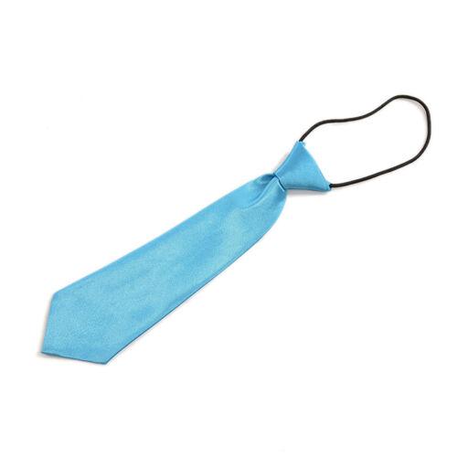 1 X Kids Toddler Neck Tie Polyester Satin Children Necktie Boy Wedding C76