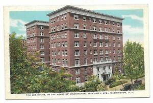Vintage-Washington-DC-Linen-Postcard-Lee-House-Heart-15th-and-L-Streets-Hotel