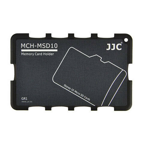 Memory Card Holders fits 10 Micro SD Cards JJC MCH-MSD10CN Case Cleaning cloth