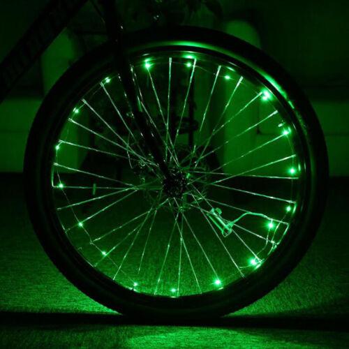 20 LED 220cm Bicycle Colorful Spoke Wheel Decor Light String Lights Reflectors