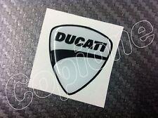 1 Adesivo Stickers New DUCATI White 3D resinato 3 cm.