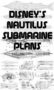 DISNEYS NAUTILUS SUBMARINE PLANS OVER 200 PLANS AVAILABLE