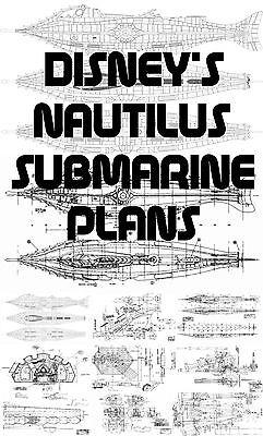 DISNEYS NAUTILUS SUBMARINE PLANS OVER 200 PLANS AVAILABLE