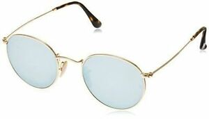 d186dfb7cf Ray Ban Rb3447 Round Metal Gold 001 30 Frame Silver Flash 50mm Lens  Sunglasses