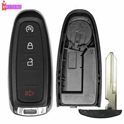 Replacement Remote Start Smart Prox Shell Case Key Fob 4B for Ford M3N5WY8609