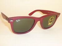 New  RAY BAN  Original WAYFARER  Sunglasses  RB 2140 888  Matte Red Frame  50mm