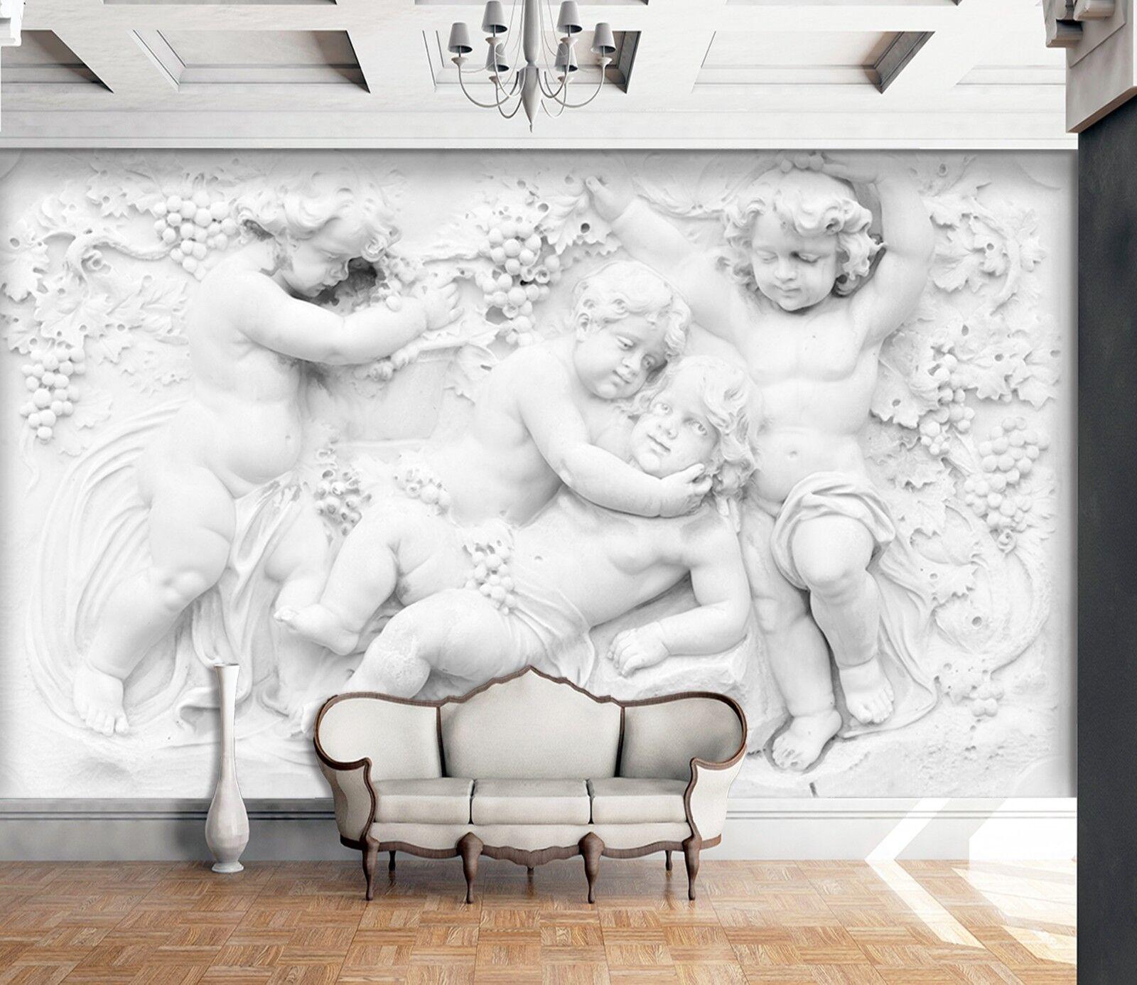 3D Garden Of Eden Angel 4 Wall Paper Wall Print Decal Wall Deco Indoor Murals