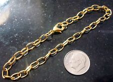 """1 Gold plated  8"""" cable link 7mmX5mm charm bracelet chains add charms pch057"""