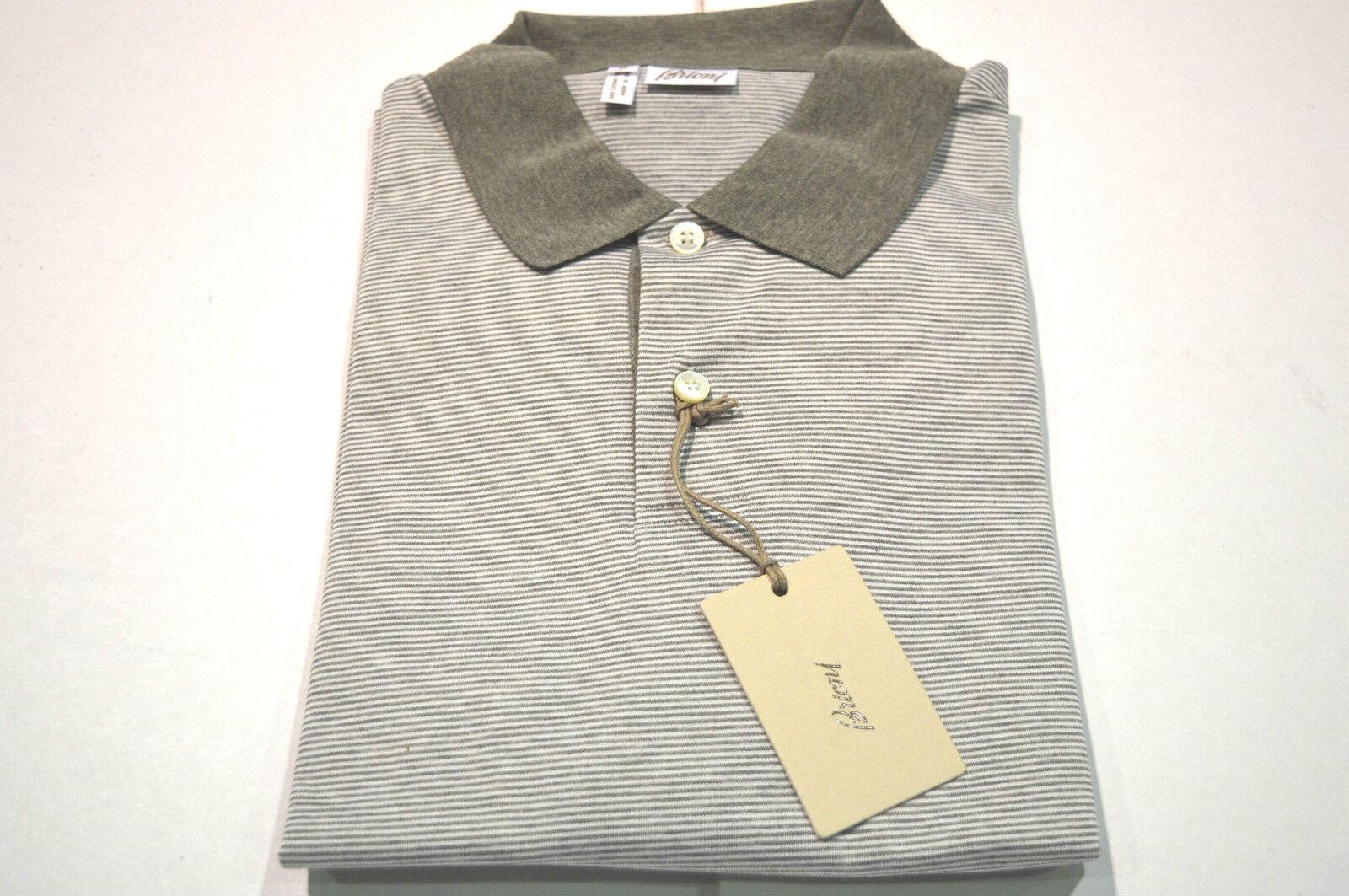 NEW  BRIONI Polo  Short Sleeve Cotton Größe XL Us Eu 54 (SpMilla)