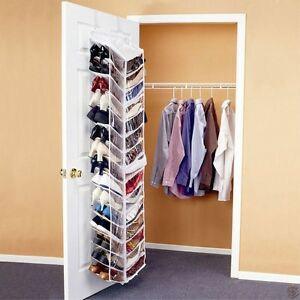 Image Is Loading Shoes Away Hanging Organizer Organize 30 Pairs E
