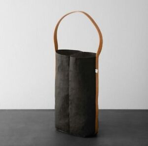 Details About Hearth Hand With Magnolia Wine Bag Black Tan Joanna Gaines Target