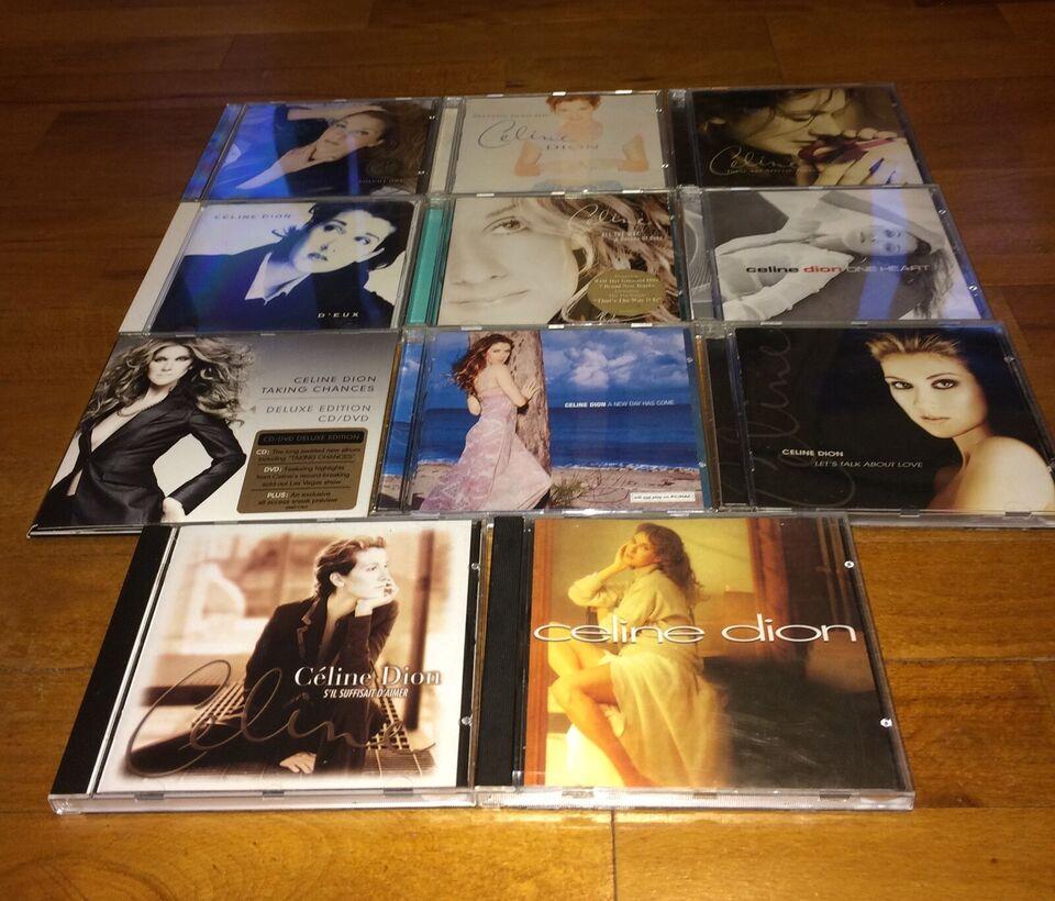 Celine Dion: Samlet pakke 10 cd'er velholdte, pop