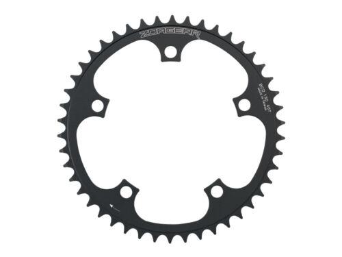 Black New Zoagear Single Speed Chainring 130 BCD 46 Teeth Track Fixed Gear Bike