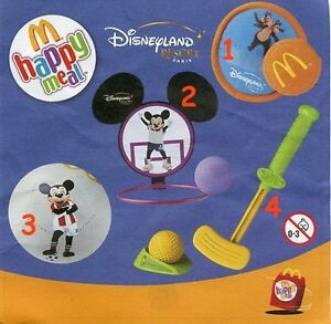 2003 Disneyland resort Azioni Pezzi singoli McDonald/'s MC DONALD/'S HAPPY MEAL
