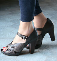 Chie Mihara Shoes Turn Platform Heels Carbon Leather 40.5 $398
