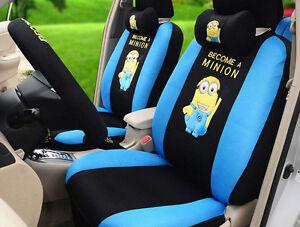 1 Set New Universal Cute Cartoon Car Seat Cover Full Package Car