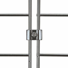 Gridwall Joining Connectors For Wire Grid Panelsgrid Wall Chrome 20 Pack