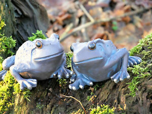 eBay & Details about 2 High Quality Bronze Effect Frog Garden Ornaments Pond Decor Lawn Decorations