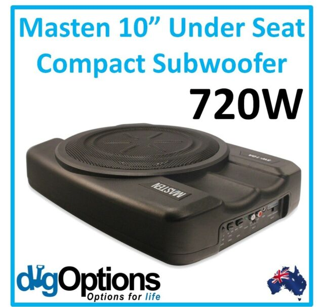 "!10"" 720W Under Seat Active Ute Compact Amplified Subwoofer with Super Slim En"