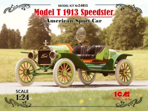 American Sport Car 1:24 Plastic Model Kit ICM Ford Model T 1913 Speedster