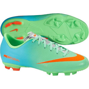 Nike Mercurial Victory IV FG 2014 Soccer SHOES New Lime Green Kids ... cd561da6db2af