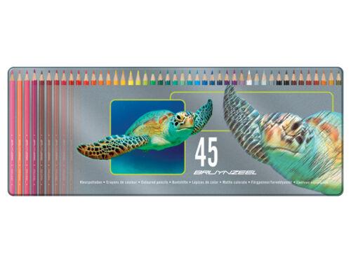 Bruynzeel 45 Colouring Pencils in metal tin Turtle design