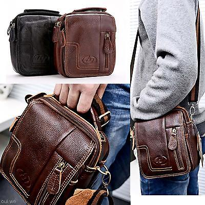 Classic Men's Business Leather Handbag Messenger Briefcase Shoulder Laptop Bag