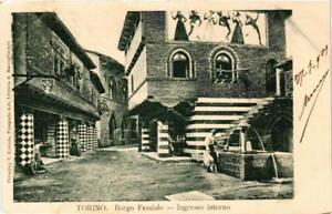 CPA-Torino-Borgo-Feudale-Ingresso-interno-ITALY-542359