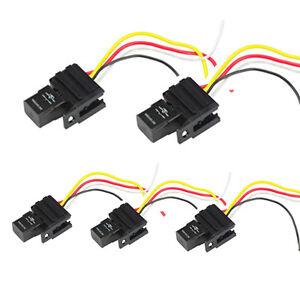 5pack 12v 30a relays \u0026 socket for car electric fan fuel pump lightimage is loading 5pack 12v 30a relays amp socket for car