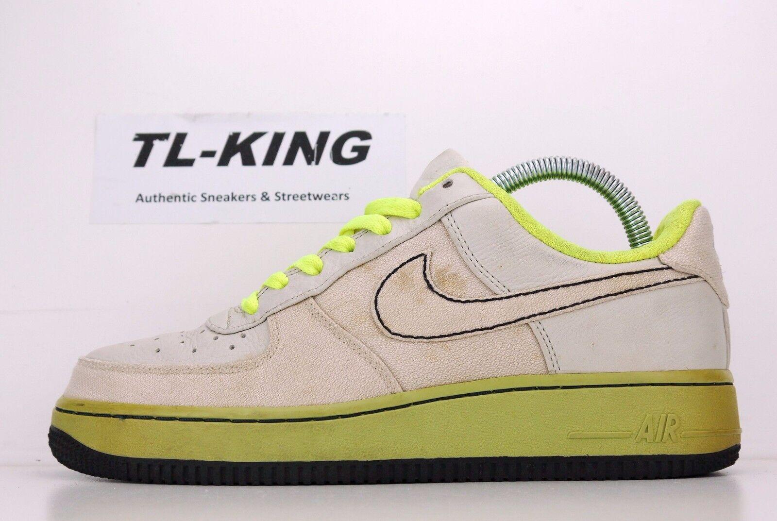 Casual wild 2007 Nike Air Force 1 Premium Toronto Bone Volt Green 315180 002 Price reduction