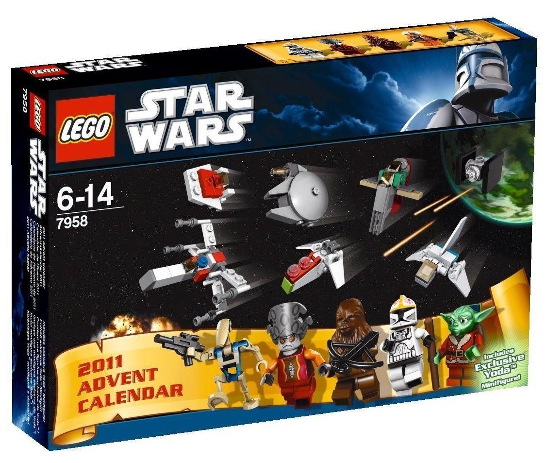 7958 ADVENT CALENDER stjärnornas krig Lego NYA Legos set 2011 santa yoda REIröd förseglad