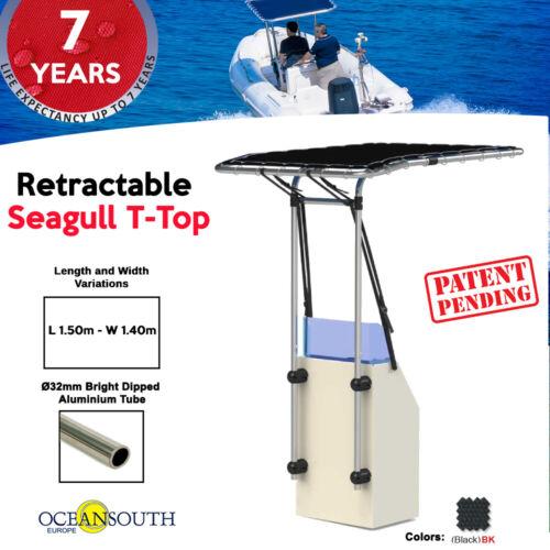 Oceansouth Retractable Seagull T-Top Länge 1.50m x Breite 1.40m Schwarz