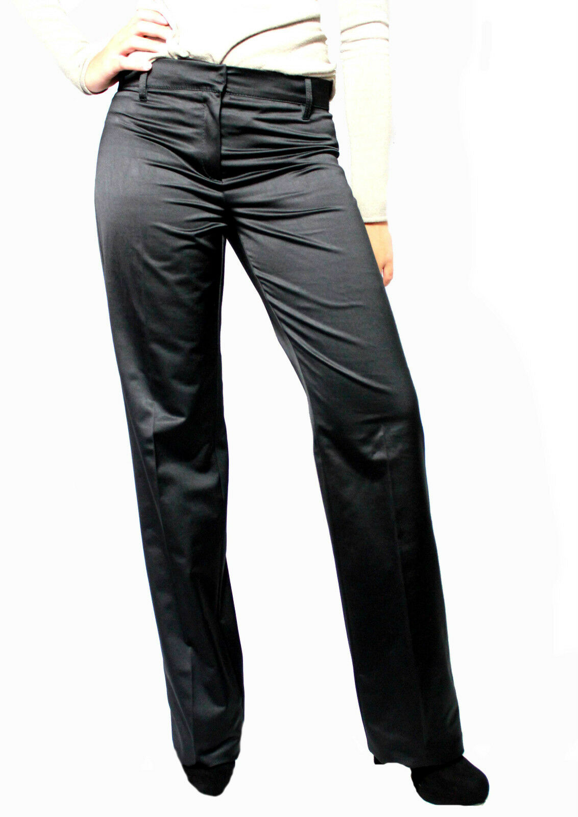 b04fe058fe99 MARELLA pantalone donna nera fondo fondo fondo cm 25 MADE IN ITALY 30fb85