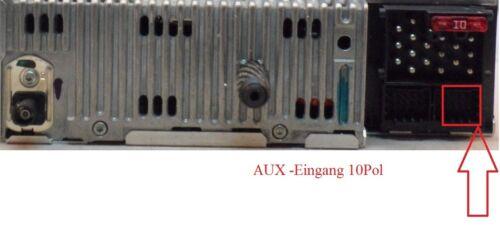 Compatible Avec e46 3-er AUX IN câble adaptateur mp3 prise jack 3,5 mm 10pol Avec Résistance