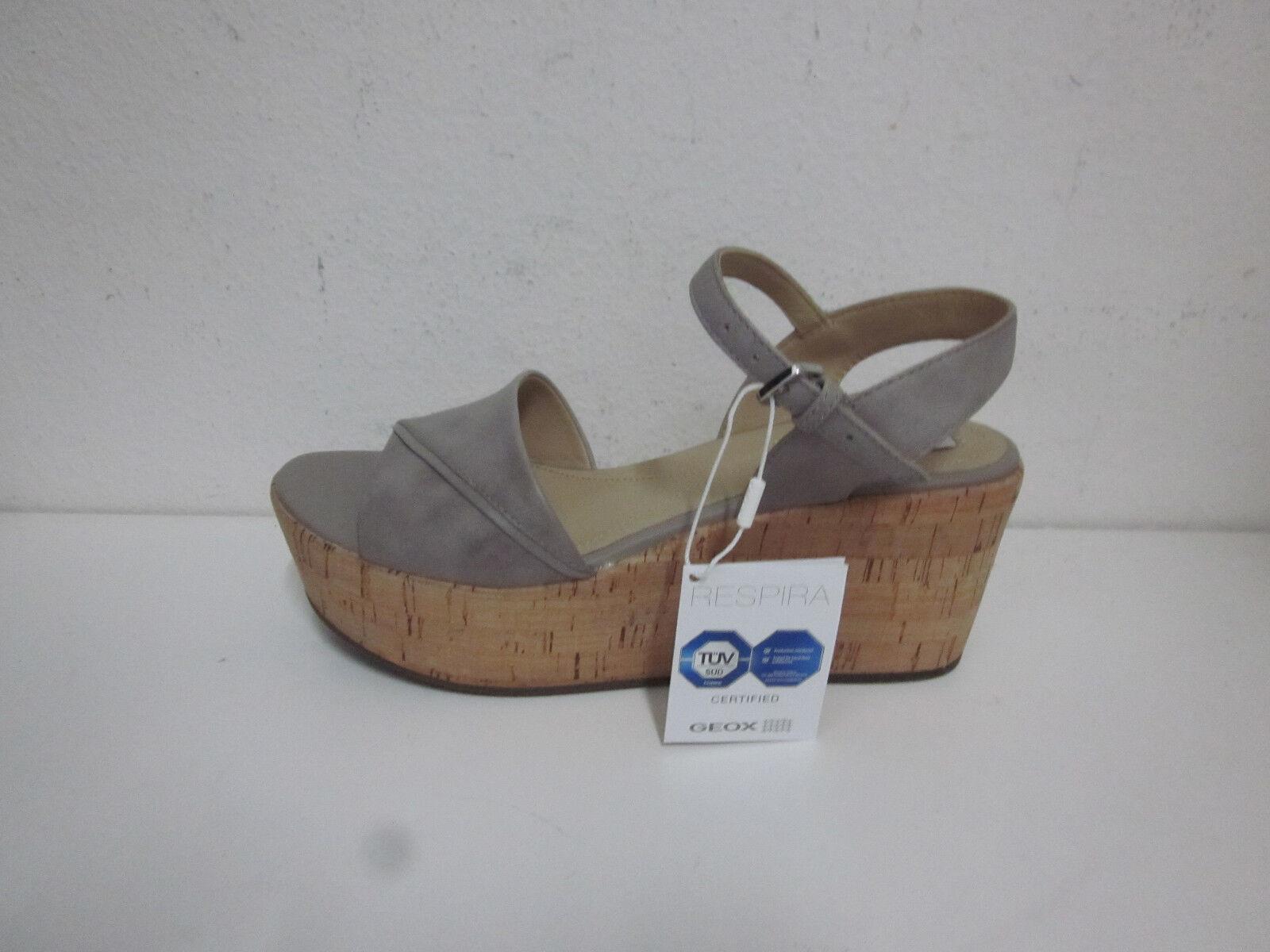 GEOX sandali donna nr. 36 zeppa pelle D724VA  p e 2017
